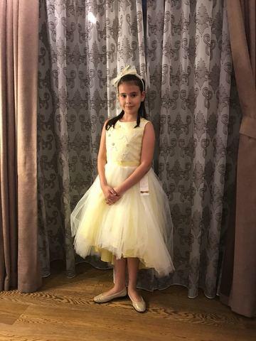 Желтое нарядное платье Beggi Ceremony (арт.8662)