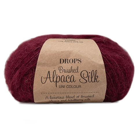 Пряжа Drops Brushed Alpaca Silk 23 бургундия