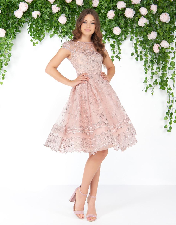 Пышное платье средней длины Mac Duggal 5050