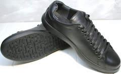 Кроссовки кожа черные мужские GS Design 5773 Black