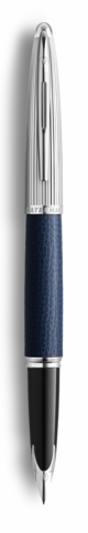 Перьевая ручка Waterman Carene Special Edition Blue Leather  цвет: Blue/Silver, палладиевое перо: F123