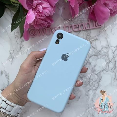 Чехол iPhone XR Silicone Slim Case /sky blue/