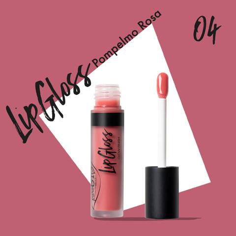 Жидкая помада-блеск для губ тон 04 розовый грейпфрут | PuroBio