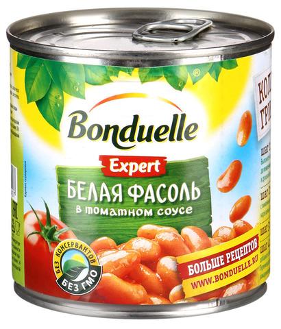 """Фасоль белая в томатном соусе """"Bonduelle"""" 425 мл"""