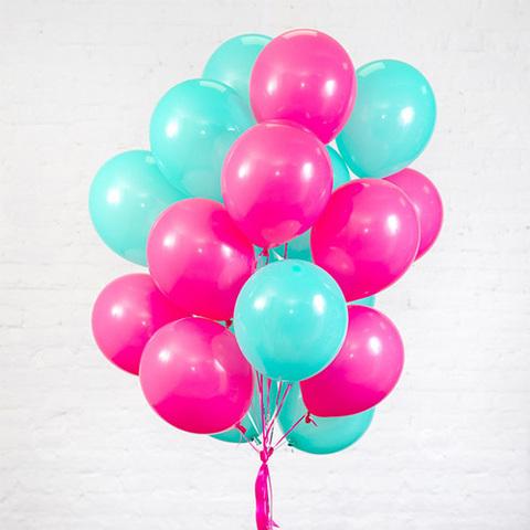 Воздушные шары с гелием Бирюзовая фуксия