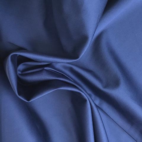 Ткань хлопок сатин темно-синий 2100