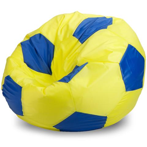 Бескаркасное кресло «Мяч» L, Желтый и синий