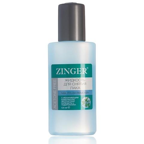 Жидкость для снятия лака без ацетона, для любого типа ногтей Zinger, 125 мл