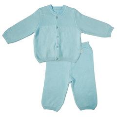 Папитто. Комплект кофточка и штанишки с принтом, голубой вид 1