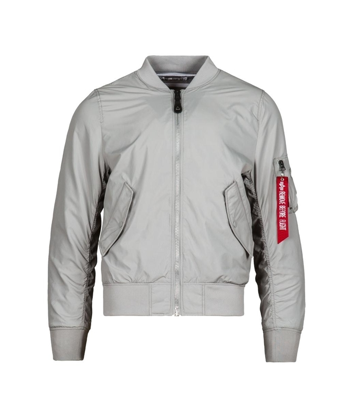 Бомбер Alpha Industries L-2B Scout New Silver (серая)
