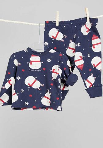Пижамка для малышей со снеговиками