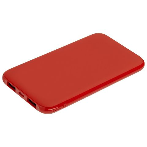Uniscend Half Day Compact Power Bank 5000 mAh, red