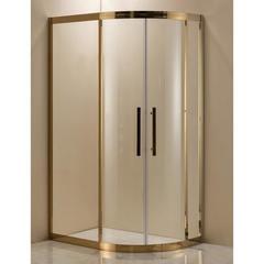 Душевое ограждение Grossman PR-120GL золото, 120х80 L, с раздвижными дверьми, прямоугольное