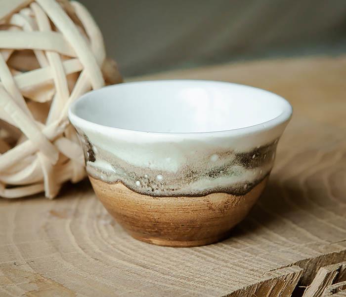 CUP101-2 Керамическая пиала для чая ручная работа, серия «Млечный Путь»