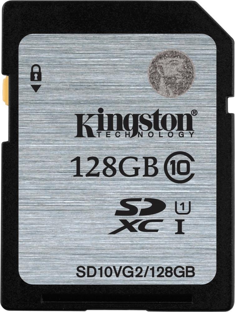 Карта памяти SDXC 128Gb Kingston (Class 10 UHS-I U1) 45MB/s