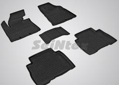 Резиновые коврики для KIA SORENTO (2012-2015), высокий борт
