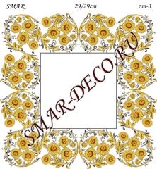 Эскиз для росписи, Зеркало 29/29см, SMAR-zm-3