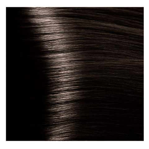 Крем краска для волос с гиалуроновой кислотой Kapous, 100 мл - HY 4.0 Коричневый