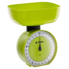 Весы бытовые настольные  5 кг DELTA КСА-104 с чашей зеленые