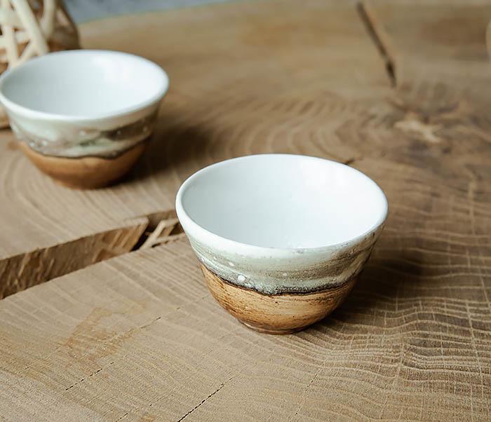 CUP101-2 Керамическая пиала для чая ручная работа, серия «Млечный Путь» фото 03