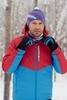 Утеплённый прогулочный лыжный костюм Nordski Montana Red-Blue мужской