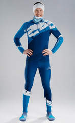 Детский Раздельный лыжный гоночный комбинезон NordSki Premium Seaport 2020