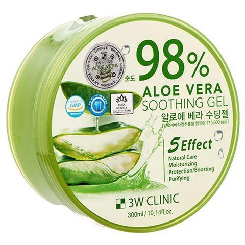 Универсальный увлажняющий гель с алоэ вера 3W CLINIC Aloe Vera Soothing Gel 300 мл