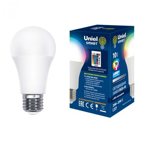 LED-A60-10W/RGB/E27/REG PLS21WH Лампа светодиодная с ИК сенсором. Форма