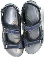 Кожаные мужские сандалии на липучках Mi Lord 2066EKO Blue.