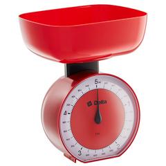 Весы бытовые настольные  5 кг DELTA КСА-104 с чашей красные
