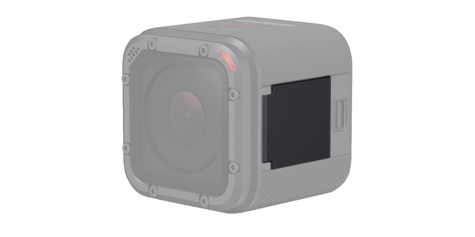 Защитная крышка для HERO5 Session Replacement I/O Door (AMIOD-001) на камере вид сбоку