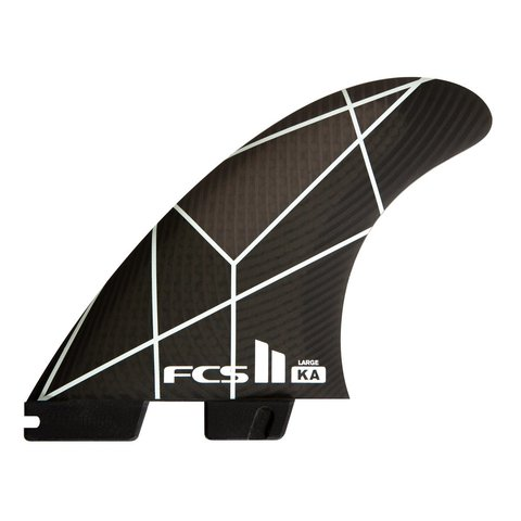 FCS II KA PC Tri Retail Fins White/Grey Large