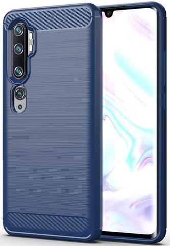 Чехол Xiaomi Mi Note 10 и Mi Note 10 Pro цвет Blue (синий), серия Carbon, Caseport
