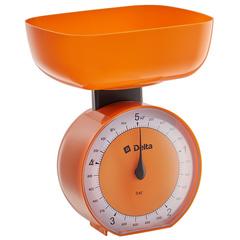 Весы бытовые настольные  5 кг DELTA КСА-104 с чашей оранжевые
