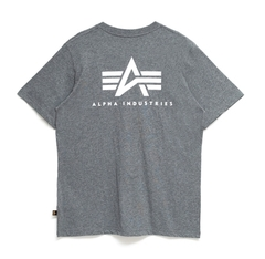 Футболка Alpha Industries Small Logo Grey (Серая)
