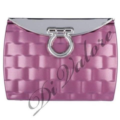 Di Valore Зеркало карманное прямоугольное, розовое 8,5*6,1*1,8см 114-003