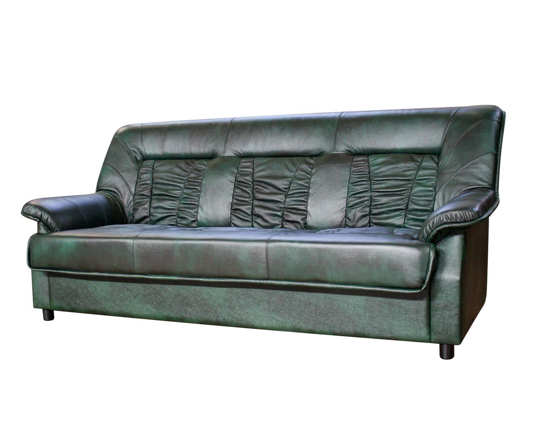 диван 3-местный Сиеста натуральная кожа + кожзам