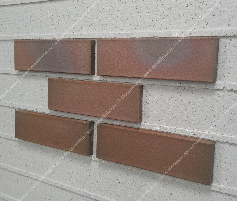 Feldhaus Klinker - R385NF14, Galena Cerasi Maritim, 240x14x71 - Клинкерная плитка для фасада и внутренней отделки