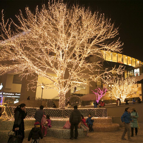 Гирлянды новогодние уличные на деревья 200 лед