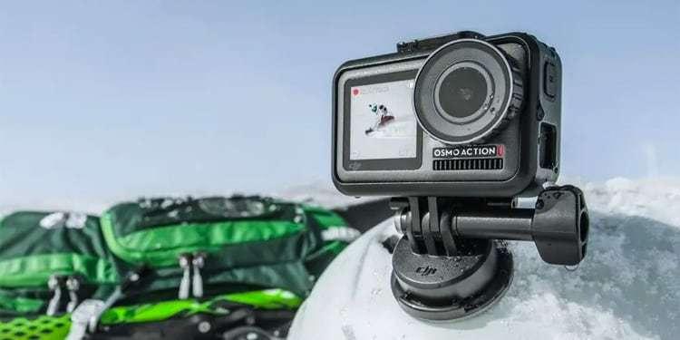 Экшн-камера DJI OSMO Action в рамке