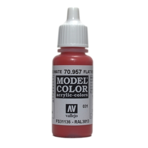 Model Color Flat Red 17 ml.