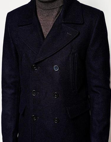Пальто-бушлат из шерсти ASOS