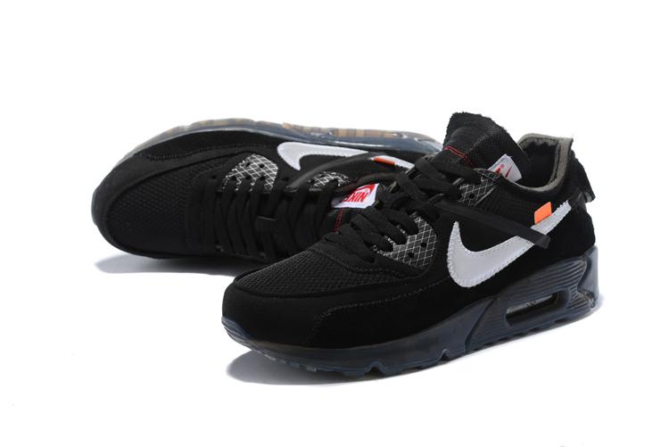 caed8bff Купить кроссовки Off-White x Nike Air Max 90 'Black' с бесплатной ...