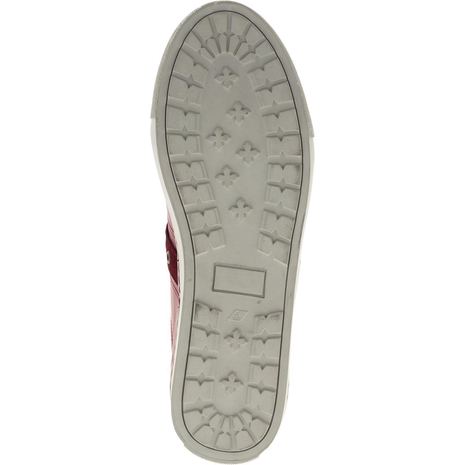 547308 полуботинки мужские бордо (кеды) больших размеров марки Делфино