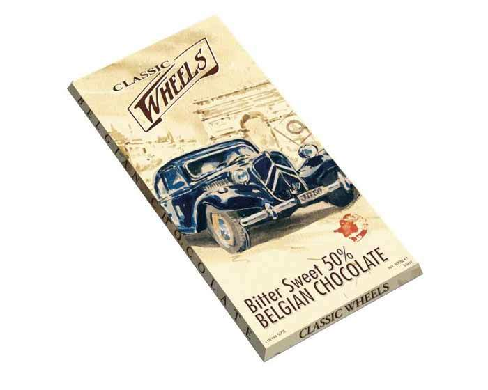 Темный шоколад Classic Wheels какао 50%, 100 г