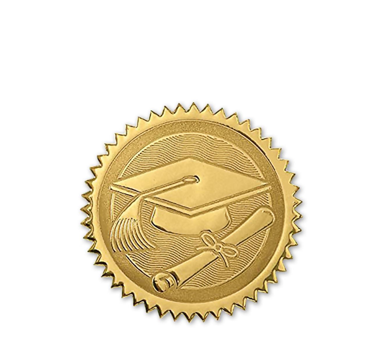 Наклейка золотая с конгревом