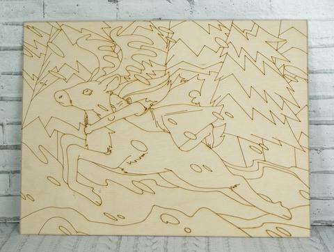 055-5007 Раскраска по дереву