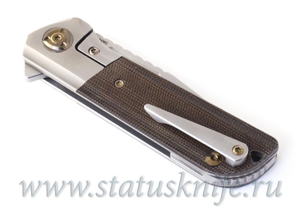 Нож Liong Mah Design Lanny Flipper Green - фотография