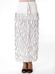 25294-7 юбка женская, черно-белая