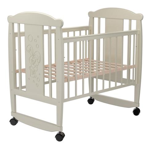 Детская кроватка Valle Bunny 02 колесо-качалка б/ящ.